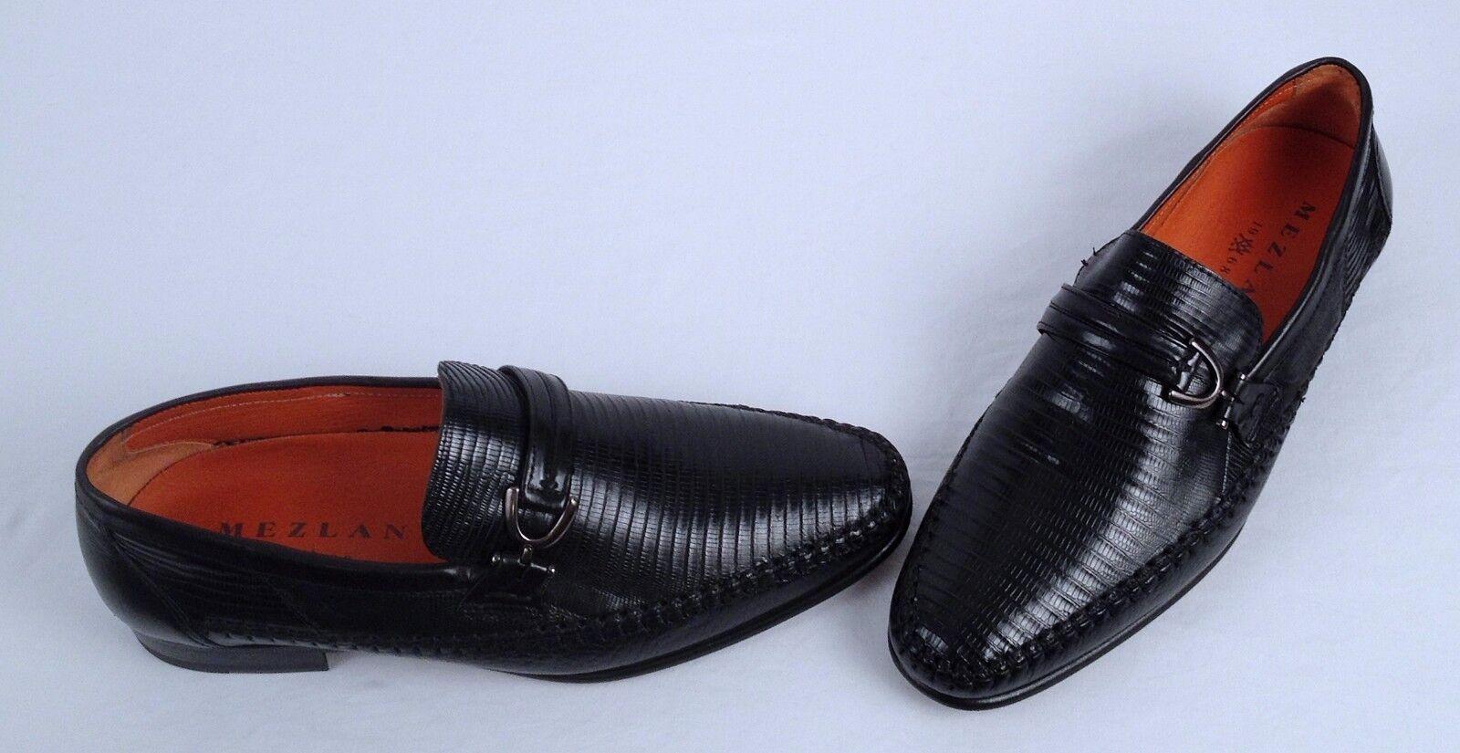 nuevo    Mezlan Lagarto Mocasín-negro-tamaño 7 m  (H5)