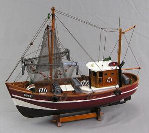 Fischkutter-Kutter-Modell-Schiffsmodell-Modellschiff-Maritim-Krabben-Nordsee-neu