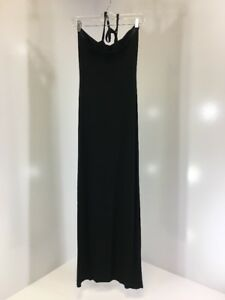 519a3117b1dc BOOHOO WOMEN'S POPPY HALTERNECK MAXI DRESS BLACK UK:8/US:4 NWT | eBay