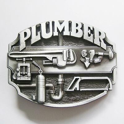 Klempner Installateur Spengler plumber Gürtelschnalle Buckle Hausmeister *290