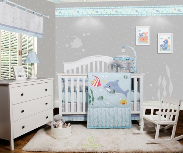 OptimaBaby Nautical Explorer Sailor 6 Piece Baby Nursery Crib Bedding Set