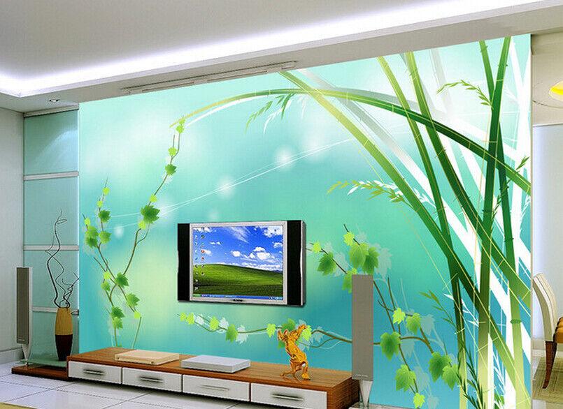 3D Green Plants 74 Wall Paper Murals Wall Print Wall Wallpaper Mural AU Lemon