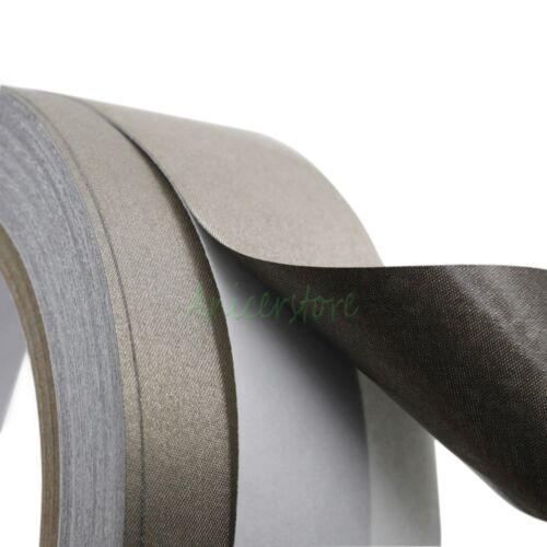 30mm x 20M 65ft Conductive Cloth Fabric Adhesive Tape LCD Cable EMI Shielding