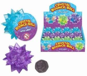 1 X Del Clignotant Crystal Bounce Ball, Light Up Bouncy Ball Toy, Sensory Play, Li-afficher Le Titre D'origine Avoir Un Style National Unique