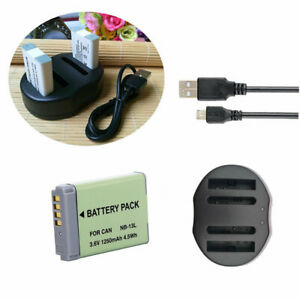 Battery-NB-13L-USB-Charger-for-Canon-PowerShot-G5X-G7X-G9X-G7-X-Mark-II-SX620HS
