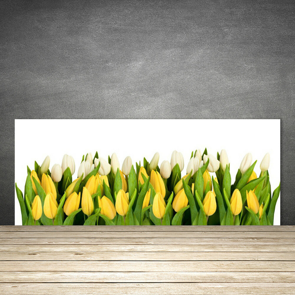 Crédence de cuisine en verre Panneau 125x50 Floral Tulipes