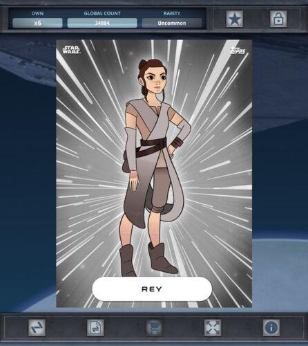 Topps Star Wars Card Trader Rey *Digital FORCES OF DESTINY