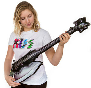 kiss inflatable gene simmons axe bass guitar blow up halloween ebay. Black Bedroom Furniture Sets. Home Design Ideas