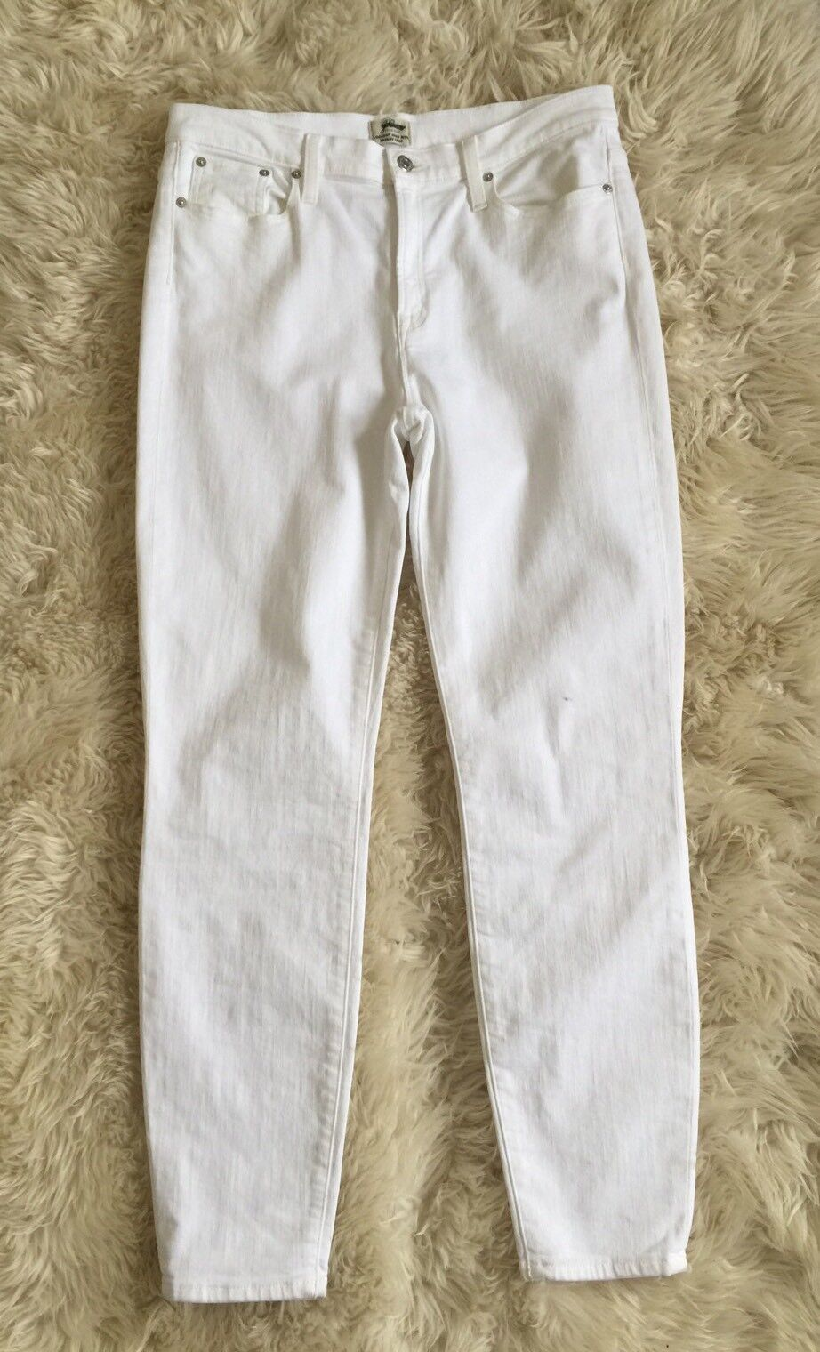New Jcrew Tall 9  lookout high-rise crop jean in white C2751 Sz 32T