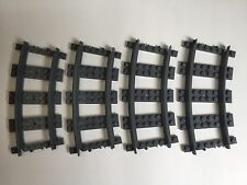LEGO Curved train track pieces x4 7499 8867 60052 7939 60051 City Brand new