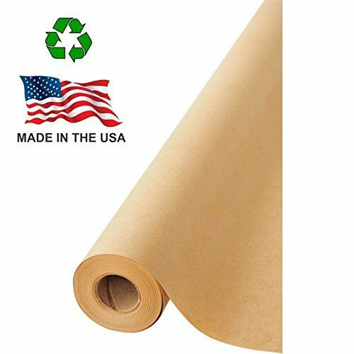 """Made in USA marron Kraft Paper Jumbo Roll 17.75"""" x 1200"""" (100ft)for Gift Wrapping"""
