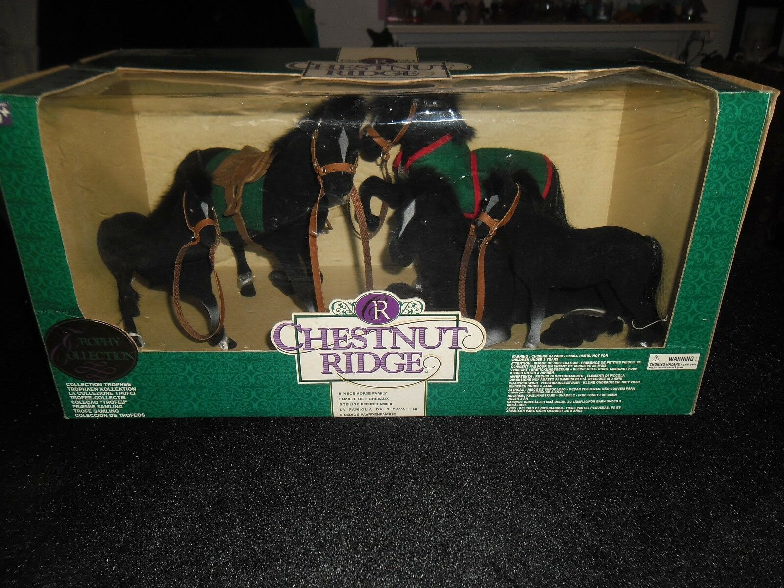 VINTAGE CHESTNUT RIDGE TROPHY COLLECTION 5 PIECE HORSE FAMILY FAMILY FAMILY BLACK b00