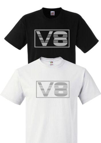 V8 LOGO UNISEX T-SHIRT S-3XL SCANIA VOLVO IVECO DAF RENAULT MERCEDES HAULAGE V8