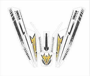 YAMAHA SUPER jet ski wrap graphics pwc up  decal kit cru blu square nose black