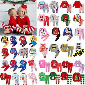 Kid-Boys-Girls-Baby-Long-Sleeve-Pyjama-Set-Cartoon-Sleepwear-Nightwear-Underwear