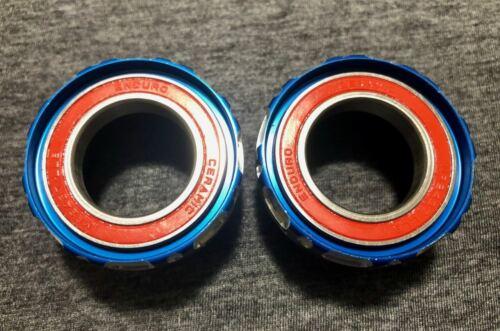 Enduro Ceramic Bearing BSA Bottom Bracket Blue MTB for Shimano NO center sleeve