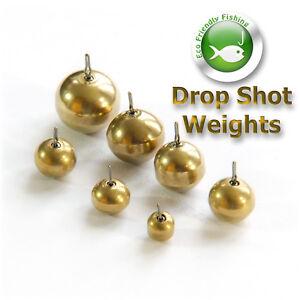 Brass-Drop-Shot-Poids-Rond-pesees-sandre-chub-Soft-Lure-de-Peche
