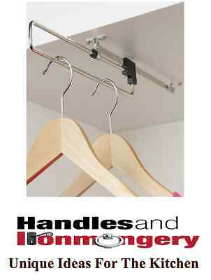 Pull Out Wardrobe Rail Hanging Storage for Bedroom