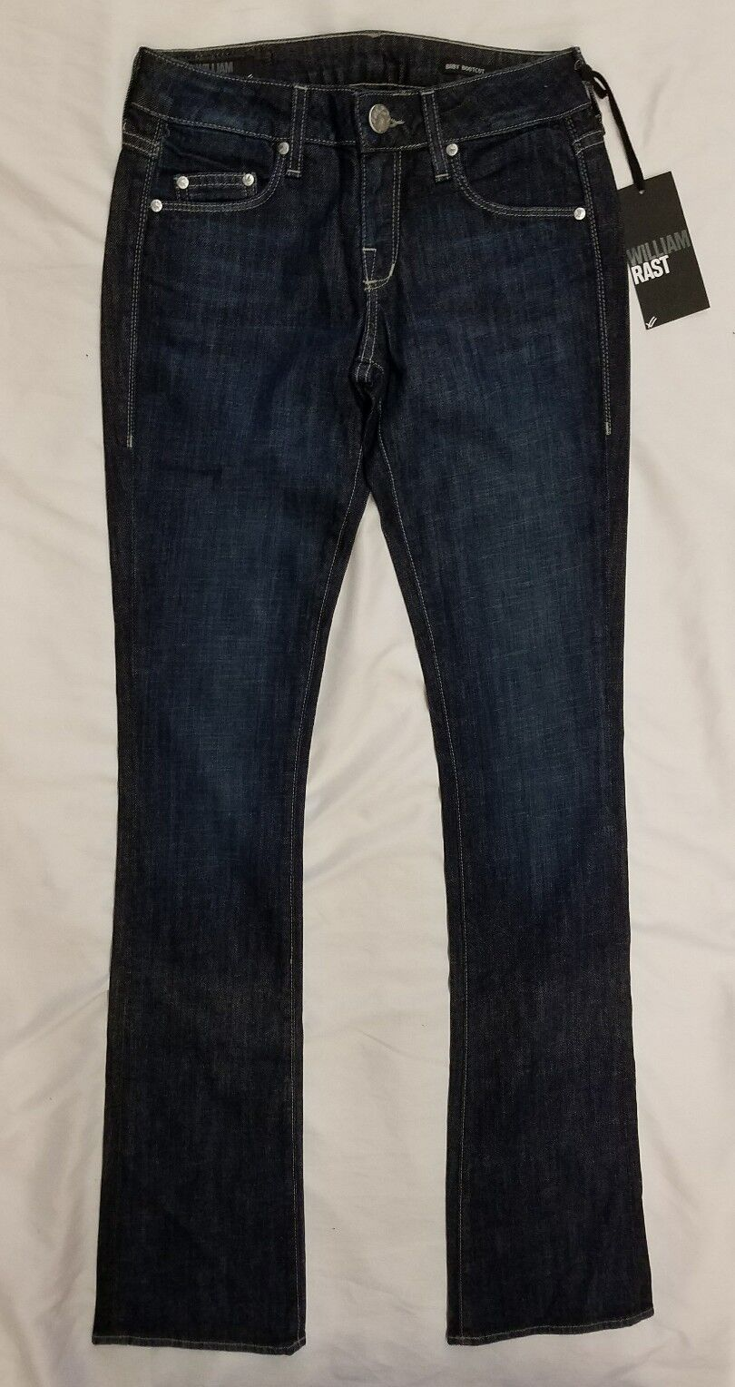 NWTWilliam Rast Women's Blair Baby Bootcut Jeans In bluee Size 29