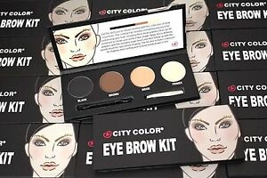City-Color-Eye-Brow-Eyebrow-Powder-Kit-Wax-Primer-Tweezers-Shaper-Brush-Gift-Set