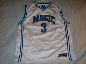 35b178e0a16 Steve Francis 3 Orlando Magic NBA Reebok White Screen Prt Jersey ...