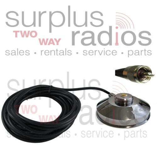 "Icom 5/"" Large Magnet Mount NMO Antenna UHF VHF F5011 F6011 F5021 F6021 F5061"