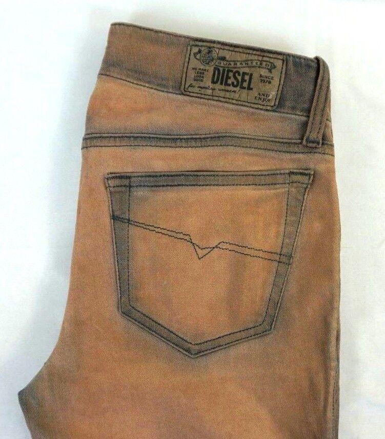 NWT Diesel Women's Beige Grupee Super Slim Skinny Stretch Denim Jeans 25 x 32