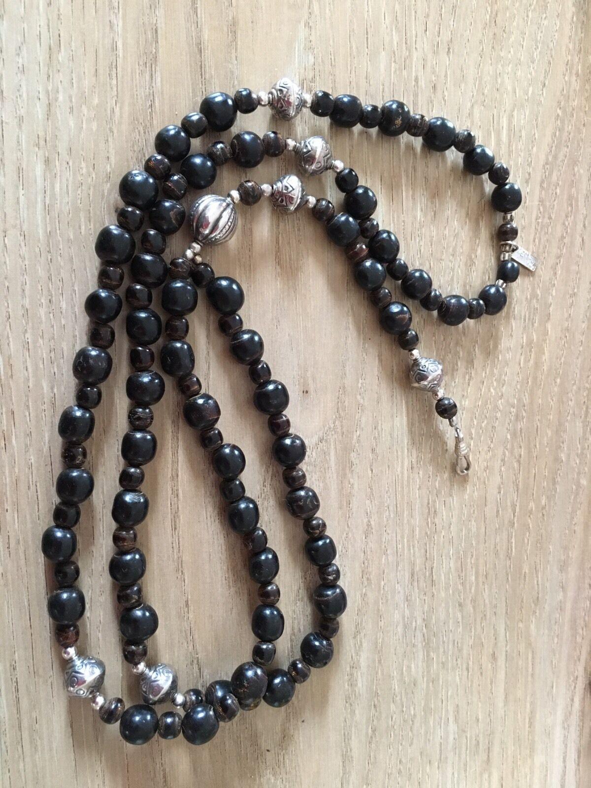 Chlobo Uomo Perle e e e argentoo rosario 0b5bc9