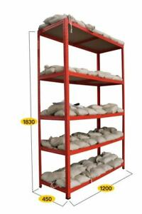 ProLiving Schwerlastregal rot - Steckregal Lagerregal Regal Werkstattregal 625kg
