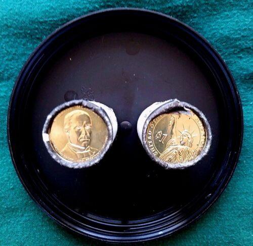 William-McKinley-Presidential-Dollar 2 Rolls set~Head~Tail 2013-P D