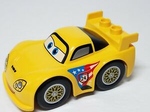 Details about JEFF GORVETTE Lego DUPLO Yellow Race Car Disney Pixar CARS  part 98249