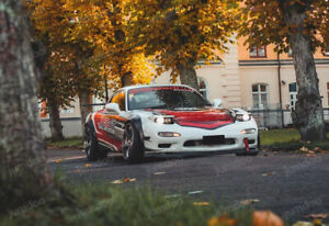 """Jumdoo Fender flares for Mazda RX-7 FD wide body kit Arch Extensions 2.75""""+3.5"""""""