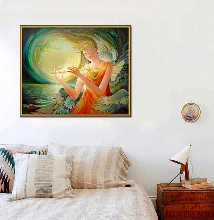 3D Engel Mädchen Taube Mond 75 Fototapeten Wandbild BildTapete AJSTORE DE Lemon