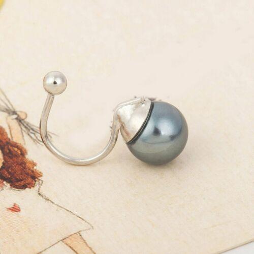 Elegant and exquisite U-shaped pierced pearl ear clip earrings Female Jewelry DP