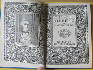 THE-ROSE-AND-THE-RING-by-W-M-Thackeray-Vintage-HARDBACK-Book-1955-J-M-Dent