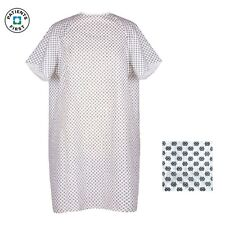 1 NEW MEDICAL EXAM ECONOMY PATIENT GOWNS WHITE W/SNOWFLAKES HOSPITAL HOSPICE