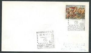 1971 Italia Busta Speciale Annullo Salerno Consiglio Europa Timbro Arrivo - Ki17