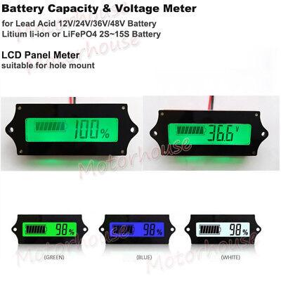 Digital LED Lead Acid LiFePO4 18650 Battery Capacity Level Indicator Voltmeter