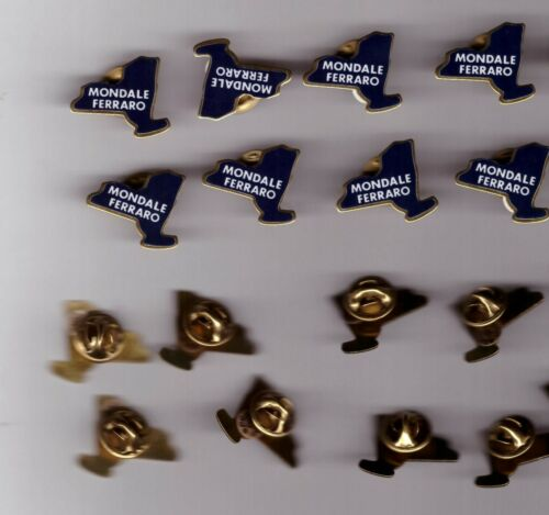 NEW YORK MONDALE FERRARO PUSH PIN STUD BUTTON LOT OF 8