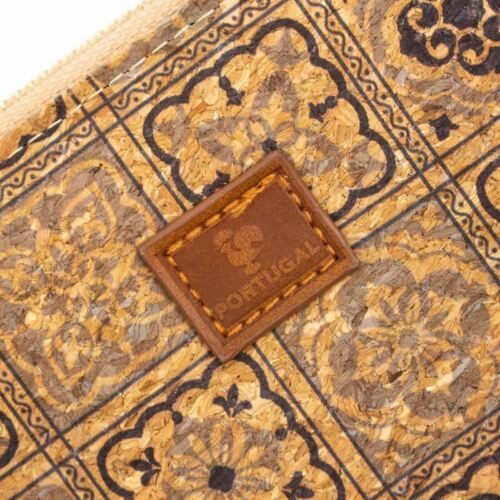 Double zipper women card wallet with Traditional Portuguese Pattern With Tiles