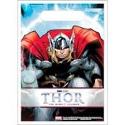 THOR THE MIGHTY AVENGER BIRTHDAY PARTY SUPPLIES GOODY BAGS / Treat Sacks / Loot