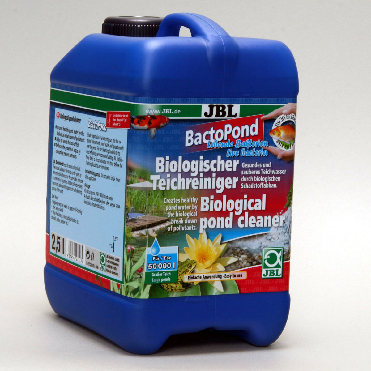 JBL Bactopond 2,5L - Cura Alga Sostanze Nutritive Stagno Batteri Riduttore Cura