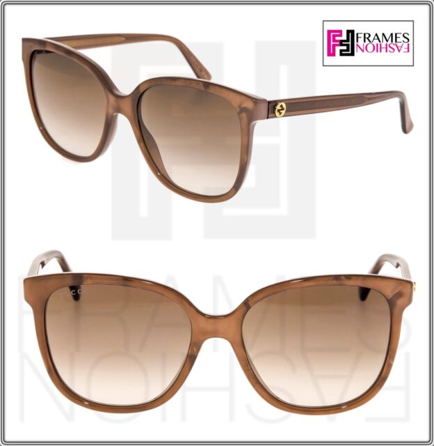 f2cb1df268 GUCCI 3819 Brown Mother of Pearl Square Oversized Gradient Sunglasses GG3819
