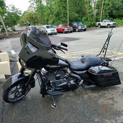 Black Motorcycle Cruiser Wing Mirrors For Harley Davidson Street Glide Flhx Dyna Ebay