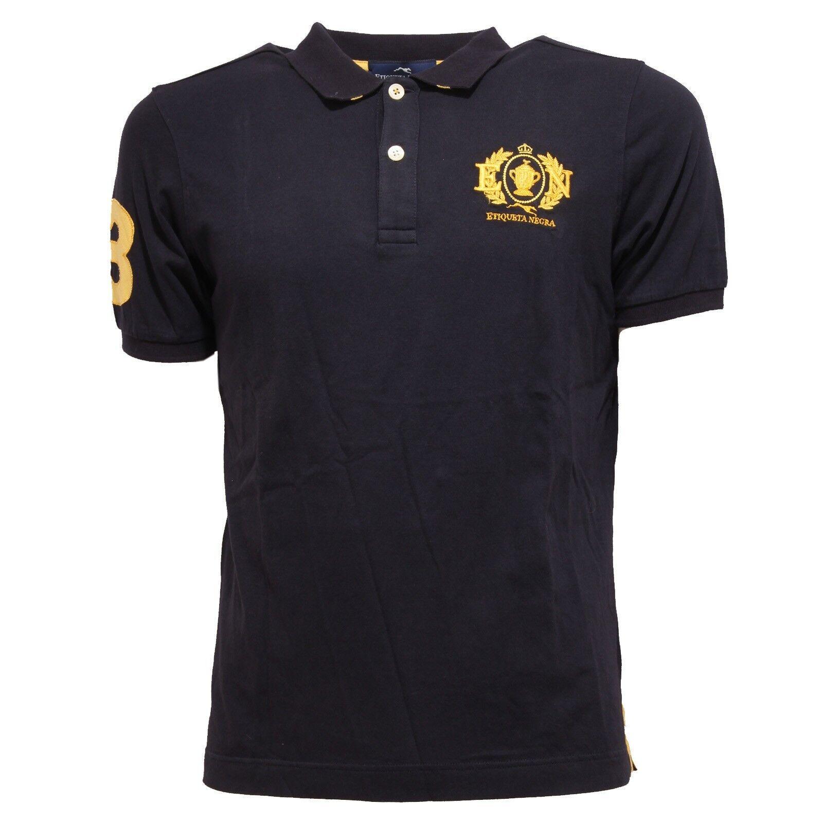 9161Q polo short sleeve ETIQUETA NEGRA blu maglia uomo t-shirt men