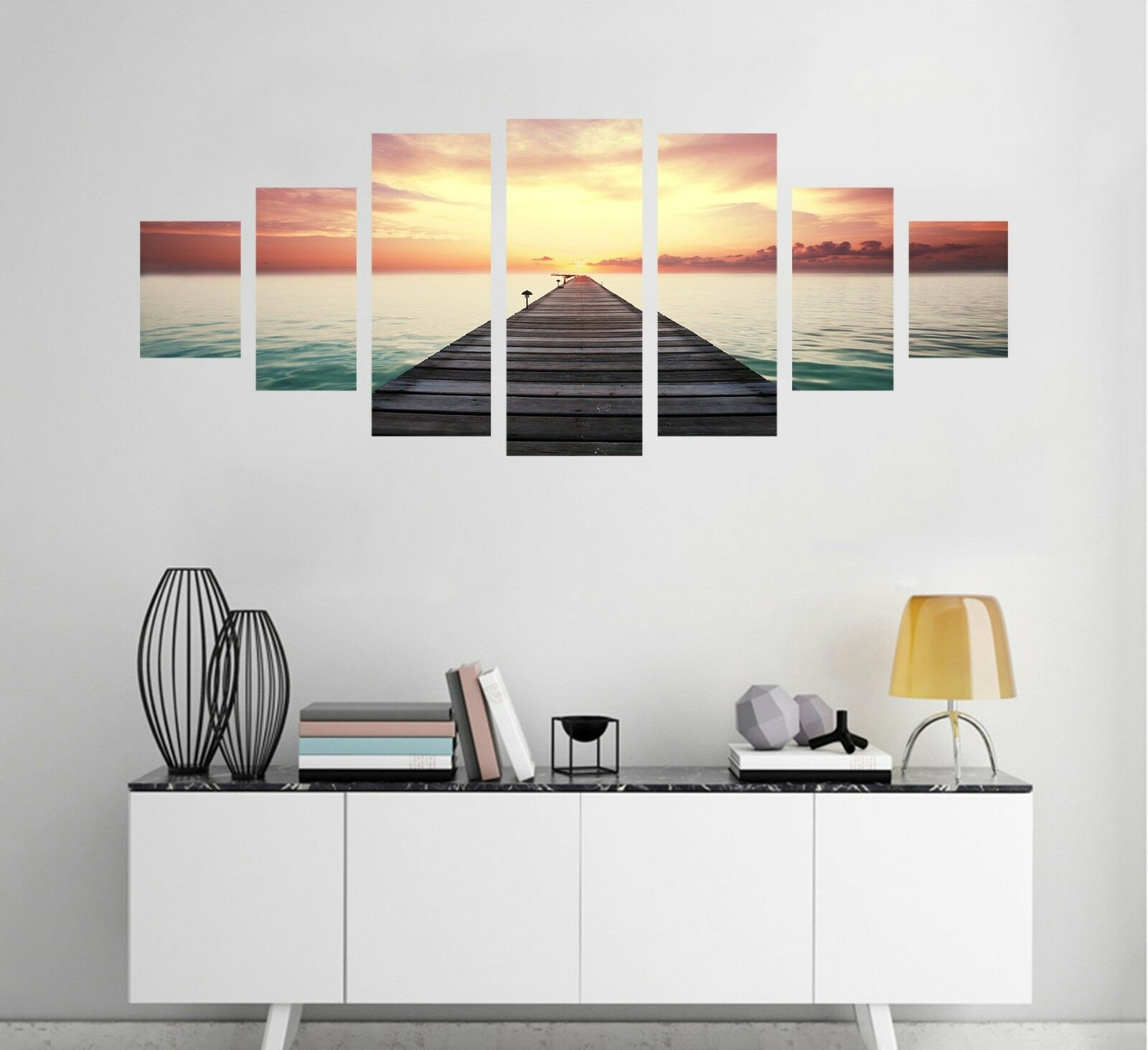 3D Dusk Bridge Sky 83 Unframed Drucken Wand Papier Decal Wand Deco Innen AJ Jenny