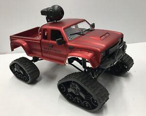 Amewi Pickup Truck Fpv Robot 4wd 1:16 Rouge 22391 Avec Chaînes Et Roues