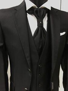 Kleid-Herren-Braeutigam-Schwarz-Unterzeichnet-carlo-pignatelli-Zeremonie-Suit