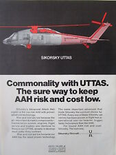1/1973 PUB SIKORSKY AIRCRAFT US ARMY UTTAS HELICOPTER AAH ORIGINAL AD