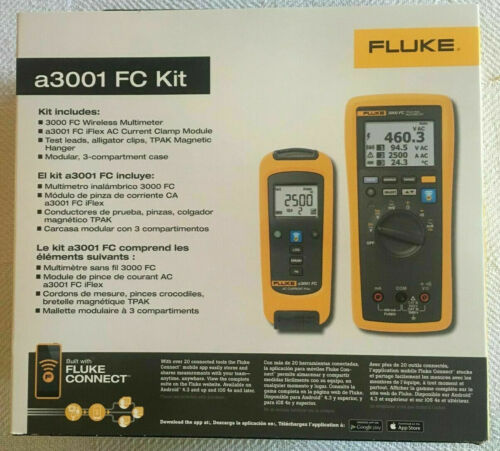 Fluke a3001 FC sans fil iFlex ® courant AC Clamp Kit-Neuf-PDSF 775